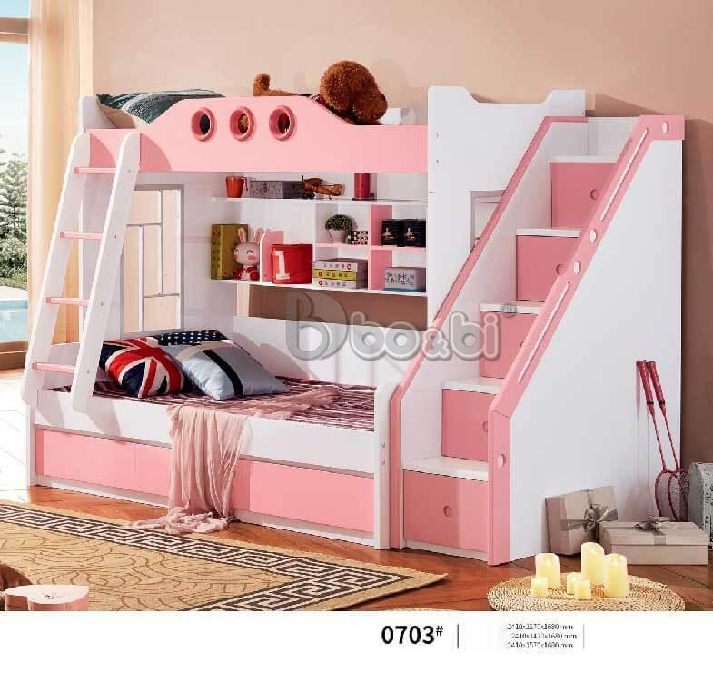 Giường tầng cho bé gái màu hồng – món quà tuyệt vời mẹ dành cho con ảnh 4