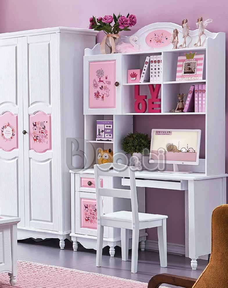 Địa chỉ bán bàn học màu hồng cho bé gái uy tín được khách hàng ưu tiên lựa chọn ảnh 2