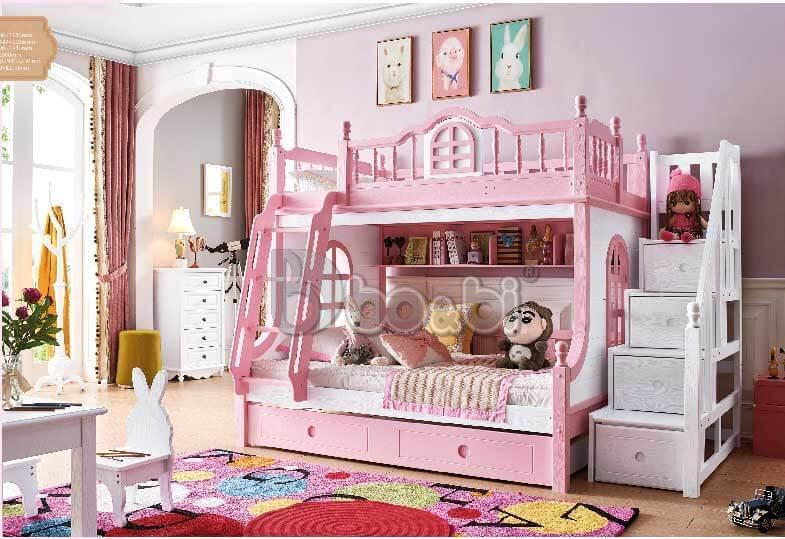 Giường tầng cho bé gái màu hồng – món quà tuyệt vời mẹ dành cho con ảnh 2