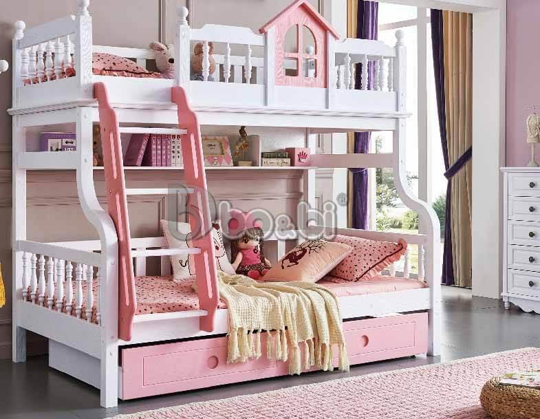 Giường tầng cho bé gái màu hồng – món quà tuyệt vời mẹ dành cho con ảnh 5