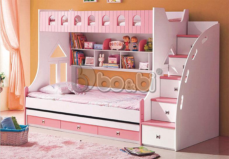 Giường tầng cho bé gái màu hồng – món quà tuyệt vời mẹ dành cho con ảnh 1