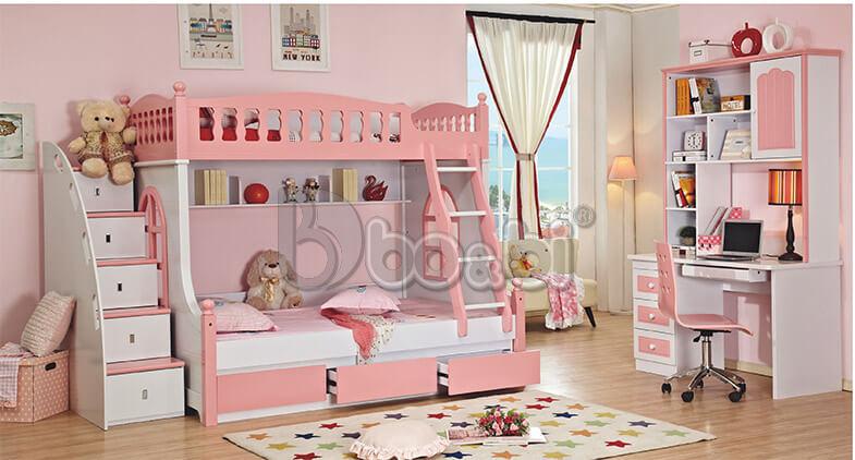 Giường tầng cho bé gái màu hồng – món quà tuyệt vời mẹ dành cho con ảnh 3