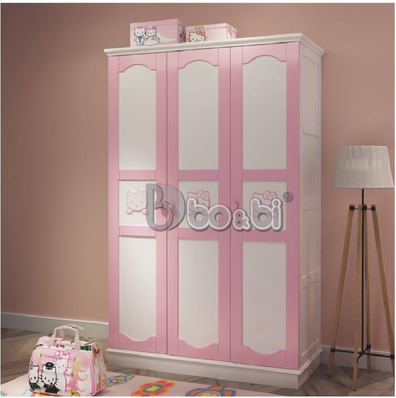 3 mẫu tủ quần áo màu hồng cho bé gái Hot nhất 2019 ảnh 3