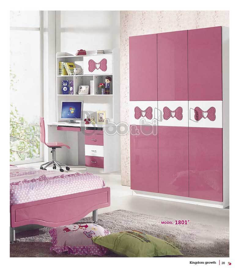 3 mẫu tủ quần áo màu hồng cho bé gái Hot nhất 2019 ảnh 1
