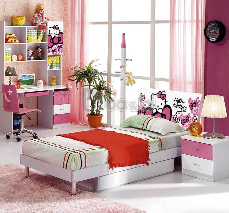 """""""Mê Tít"""" với 5 mẫu phòng ngủ Hello Kitty cho bé gái đẹp tại bo&bi ảnh 4"""