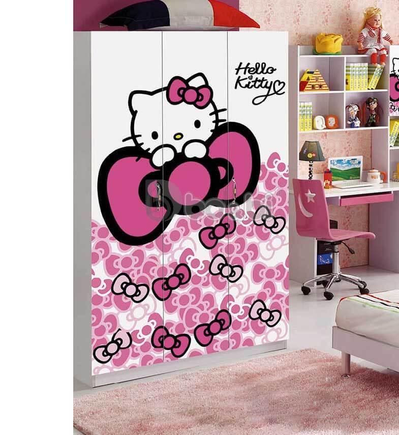 3 mẫu tủ quần áo màu hồng cho bé gái Hot nhất 2019 ảnh 4