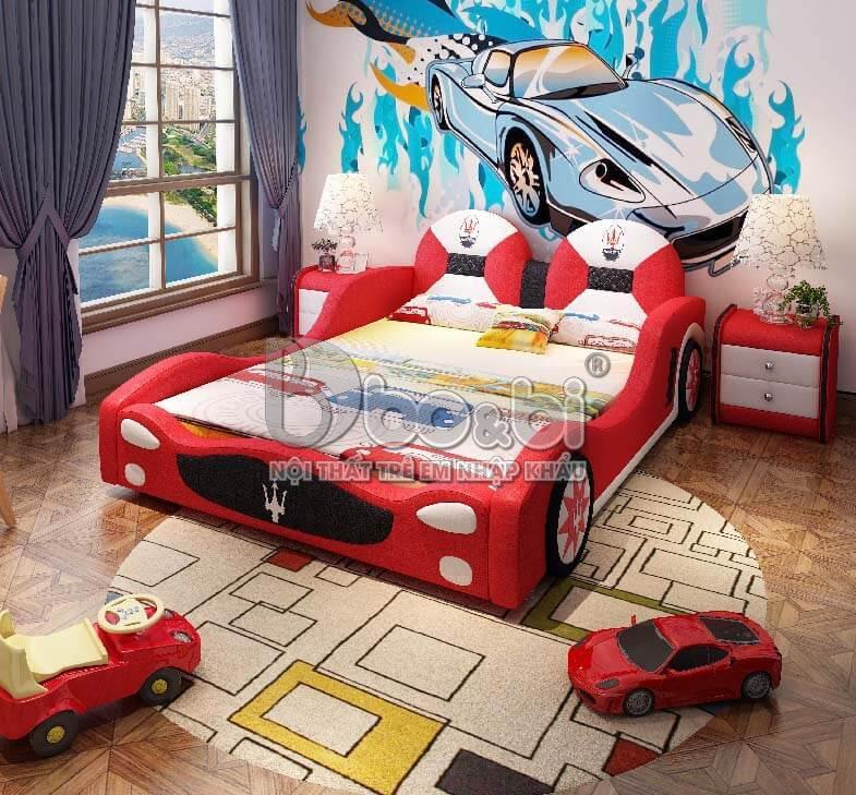 4 mẫu phòng ngủ hình ô tô cho bé trai Hot nhất 2019-4