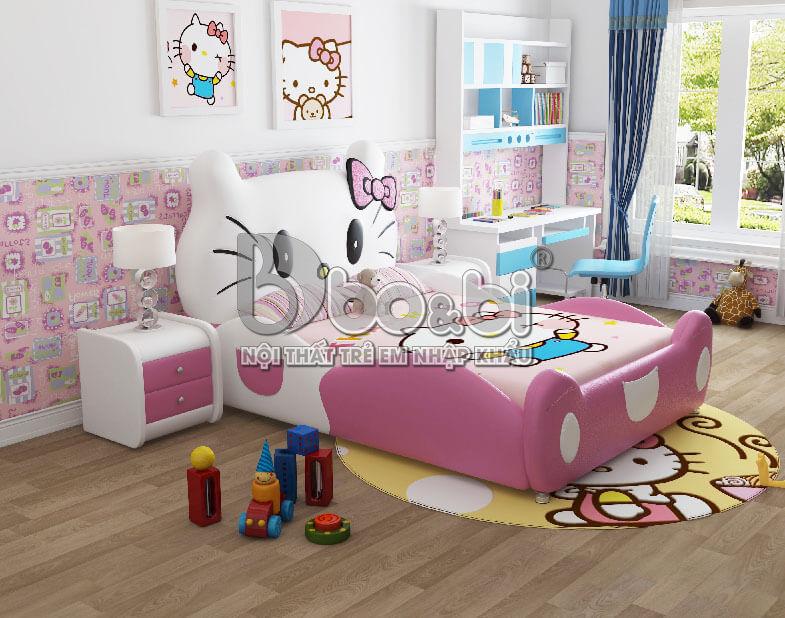 """""""Mê Tít"""" với 5 mẫu phòng ngủ Hello Kitty cho bé gái đẹp tại bo&bi ảnh 3"""