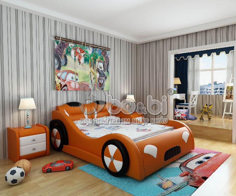 4 mẫu phòng ngủ hình ô tô cho bé trai Hot nhất 2019-3