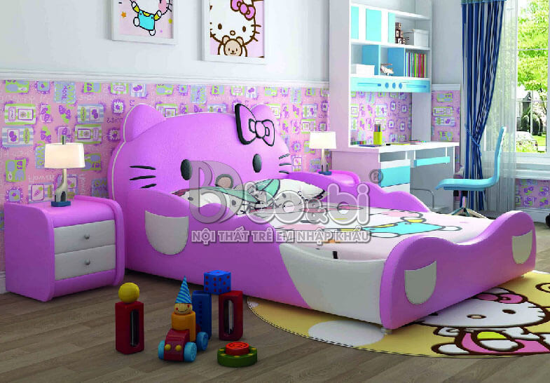 """""""Mê Tít"""" với 5 mẫu phòng ngủ Hello Kitty cho bé gái đẹp tại bo&bi ảnh 5"""