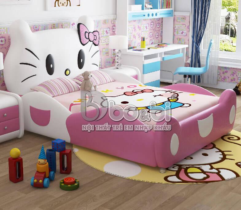 Giường ngủ trẻ em Hello Kitty – Siêu phẩm dễ thương dành cho bé gái mẹ không nên bỏ qua ảnh 3