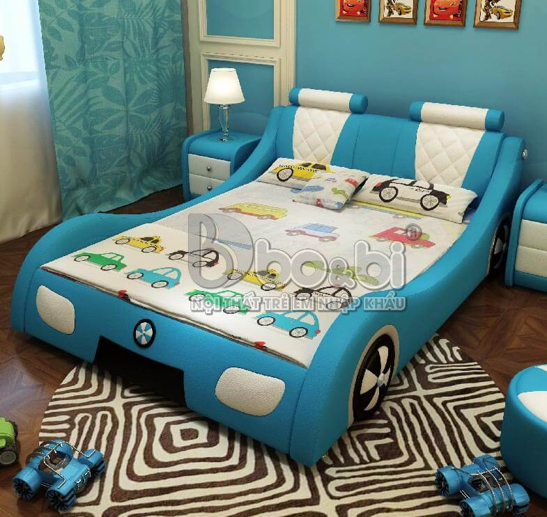 Giường ngủ trẻ em hình ô tô – lựa chọn hoàn hảo cho sự sáng tạo của bé ARNH 1O