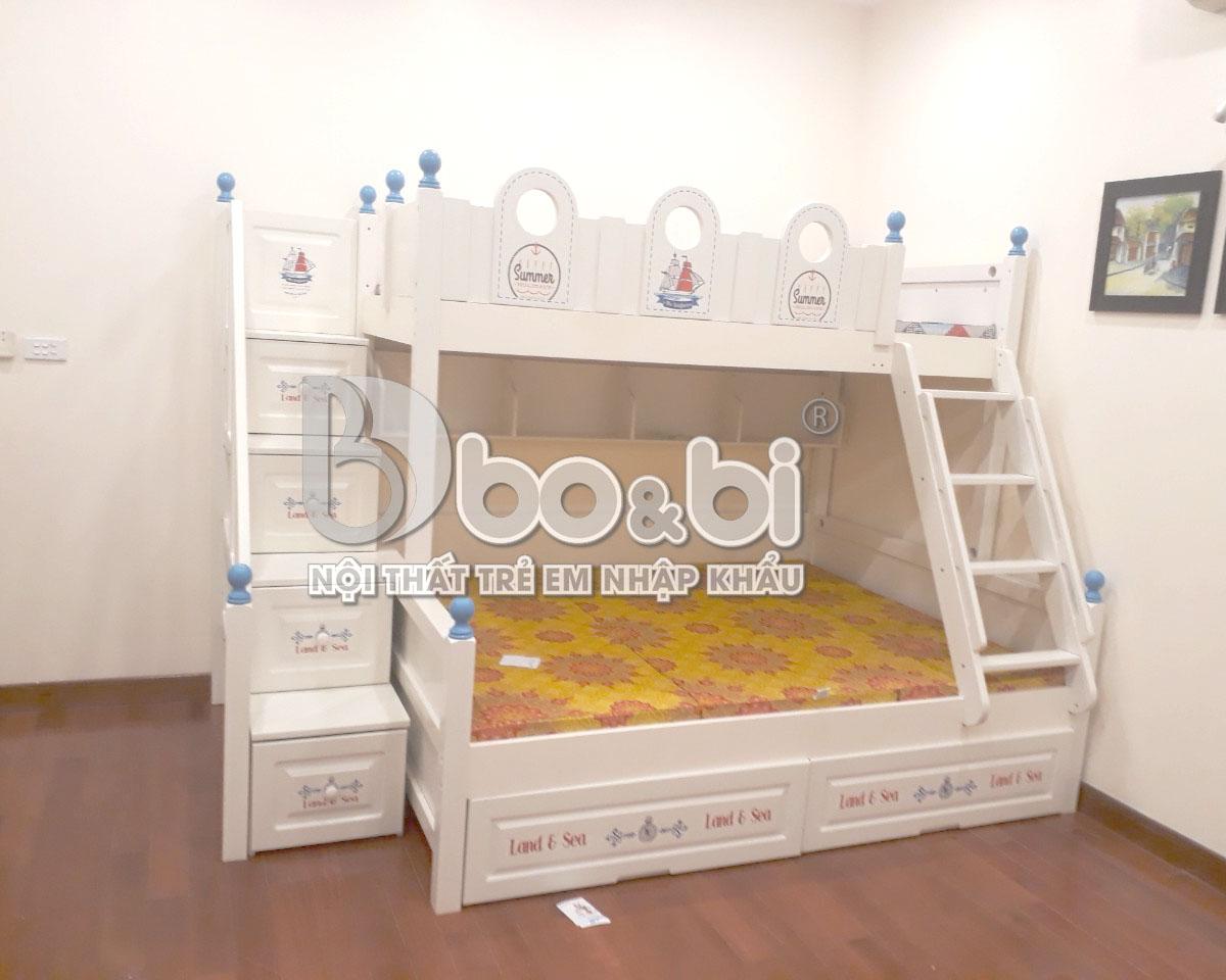 Công trình phòng ngủ đẹp cho bé gái với mẫu giường tầng siêu xinh - căn hộ anh Tài