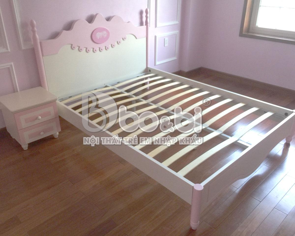 Công trình phòng ngủ trẻ em đẹp cho bé gái - Chung cư chị Trang