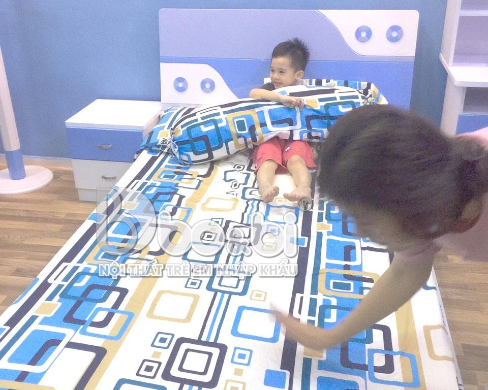 Công trình thi công phòng ngủ trẻ em độc đáo cho bé Tít ở Linh Đàm