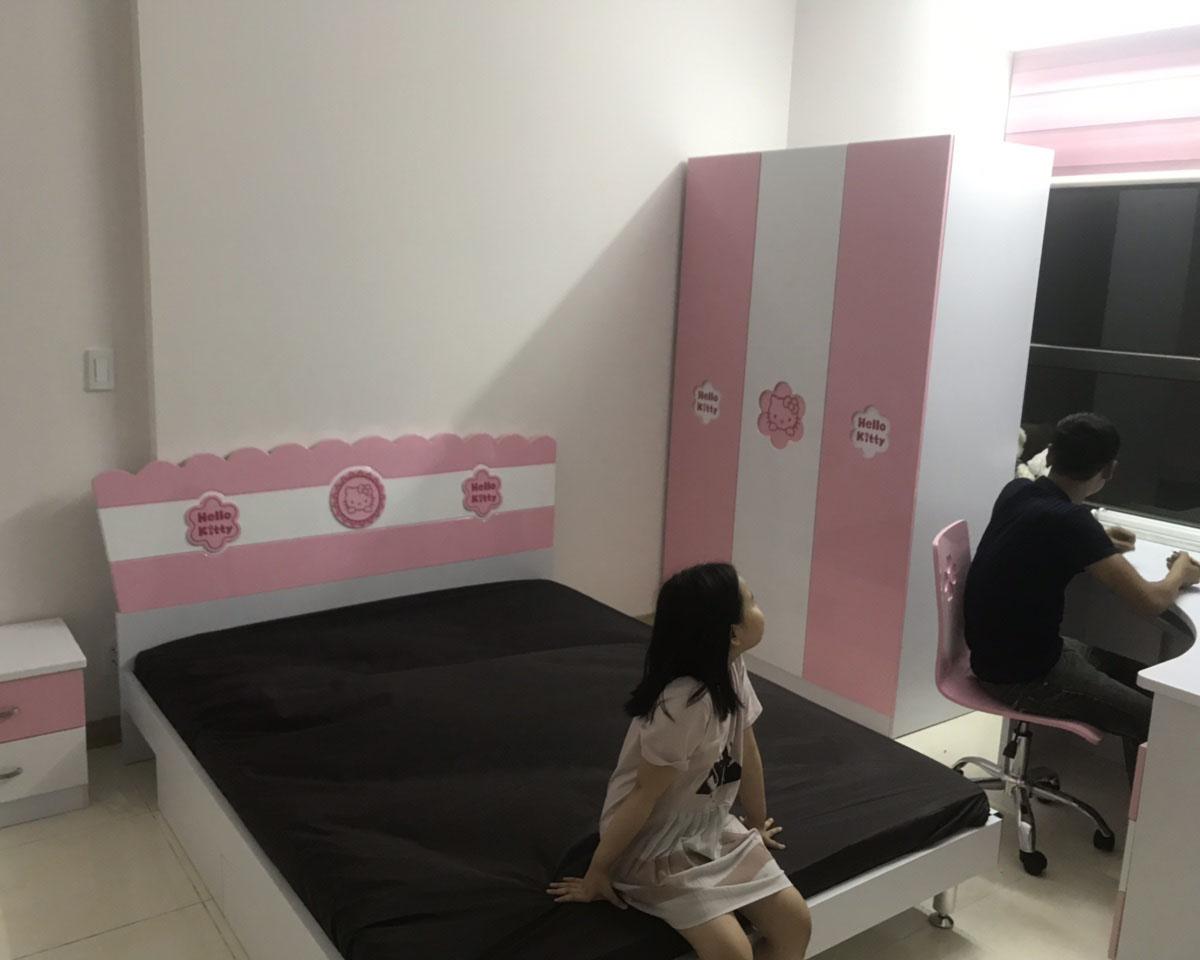 Công trình thi công phòng ngủ cho bé gái đáng yêu của gia đình chị Thoa – Hoàn Kiếm (Hà Nội)