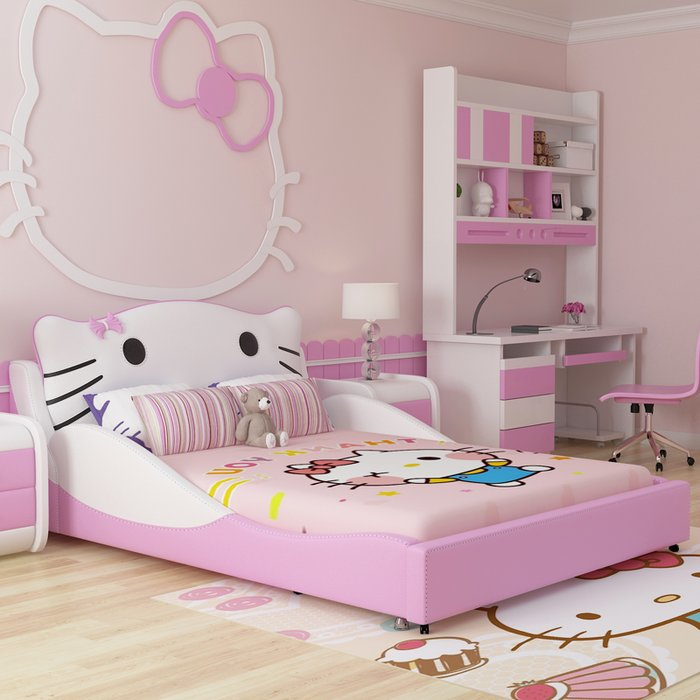 Mẫu giường cho bé gái đáng yêu