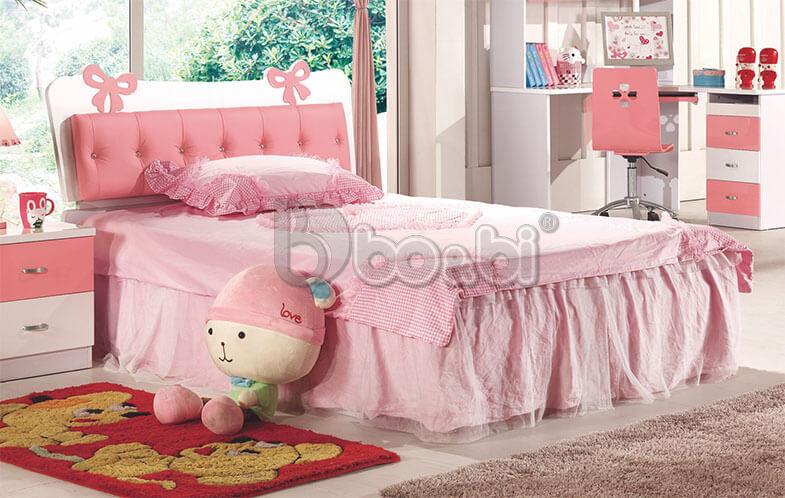 Tư vấn chọn mẫu giường ngủ màu hồng cho bé gái