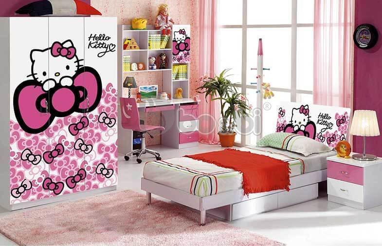 Chọn giường ngủ kitty cho bé gái 6-12 tuổi