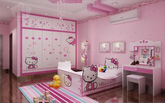 Gợi ý trang trí phòng ngủ hello kitty cho bé gái