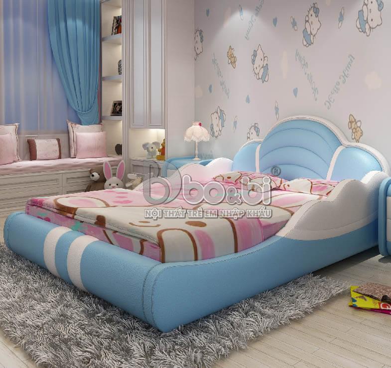 Có nên mua giường ngủ  bé trai bọc da hay không?
