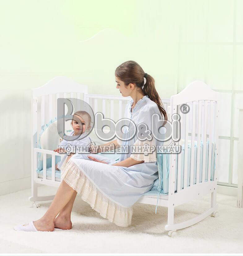 Kinh nghiệm lựa chọn cũi gỗ cho em bé sơ sinh