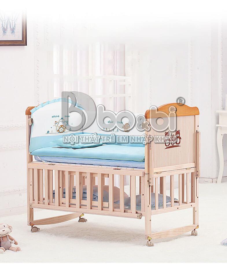 Cũi trẻ em bằng gỗ cao cấp sự lựa chọn hoàn hảo cho mẹ