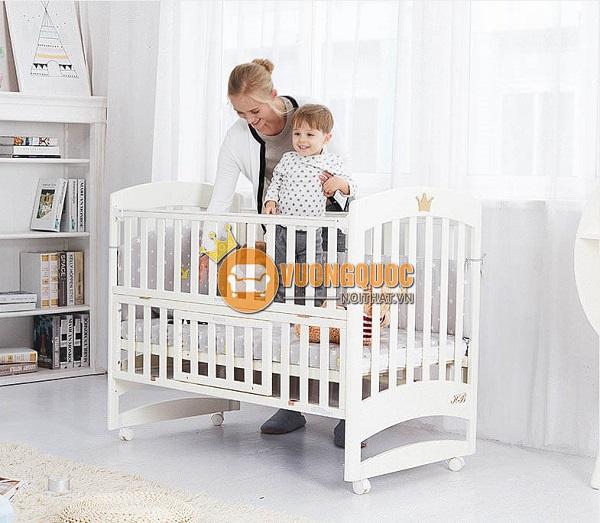 """""""Điểm cộng"""" của mẫu giường cũi trẻ em 2 trong 1"""