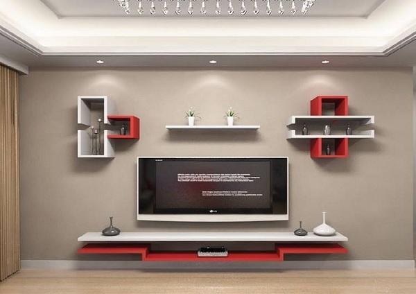 UPDATE: Các mẫu kệ tivi treo tường đơn giản mà đẹp 2020