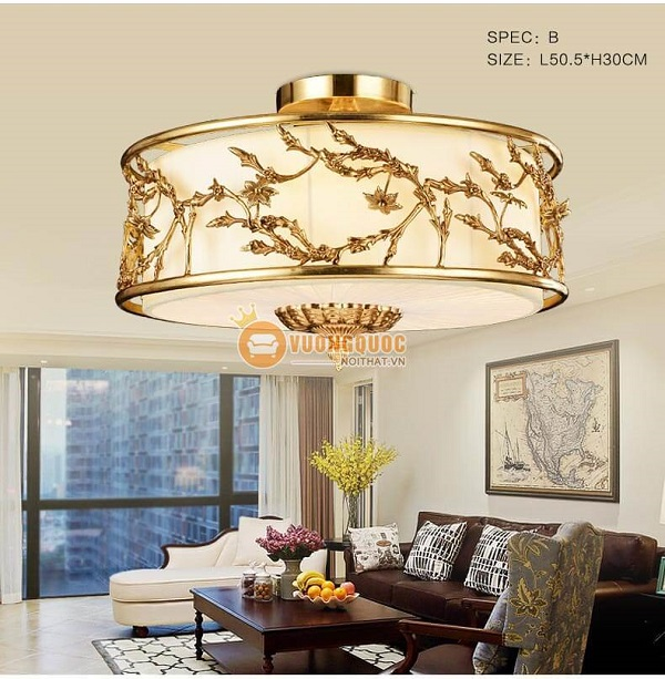 Hé lộ TOP 5 mẫu đèn ốp trần phòng khách chung cư siêu HOT