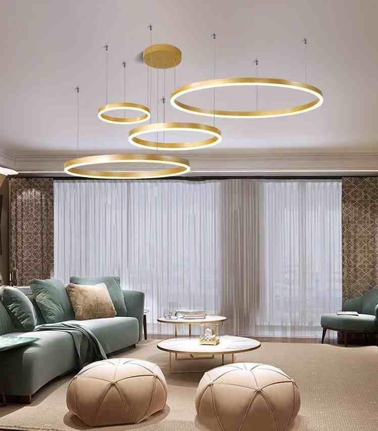 15 mẫu đèn thả trần cho phòng khách hiện đại tinh gọn, tinh tế