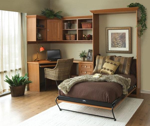 """UPDATE: 15+ mẫu phòng ngủ kết hợp làm việc """"Cực HOT"""" 2020"""