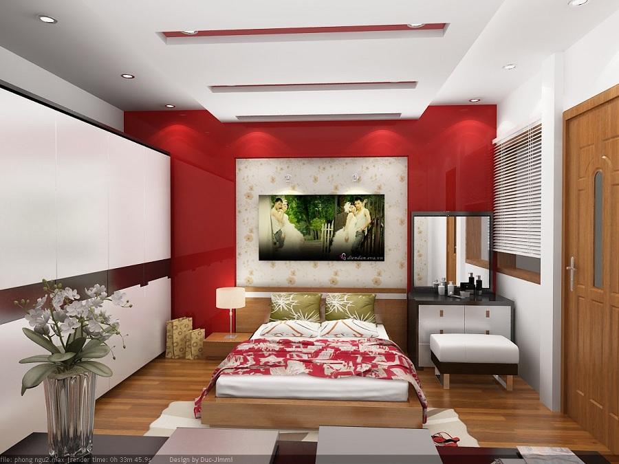 Trang trí phòng ngủ đẹp nức nở cho vợ chồng mới cưới hạnh phúc lâu bền