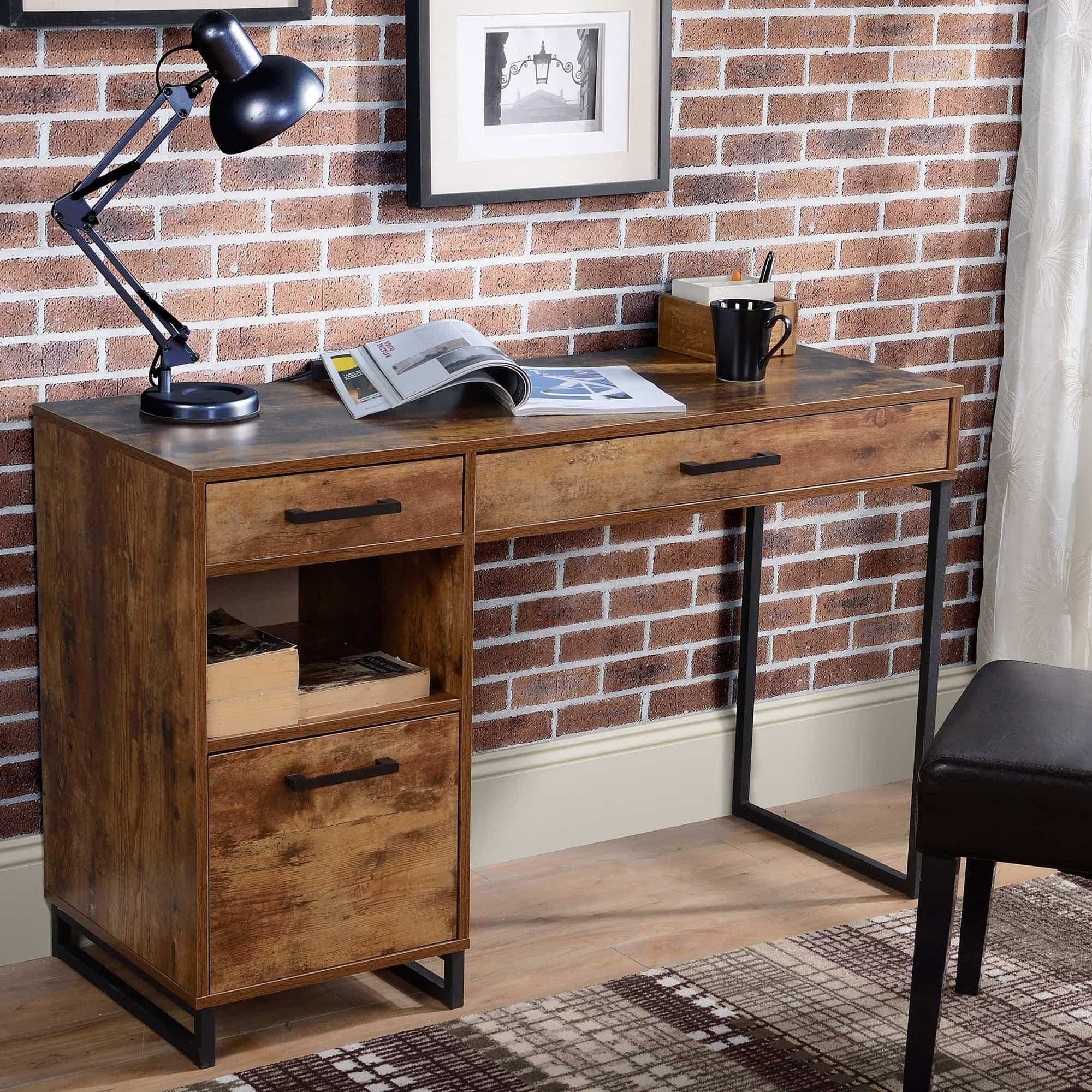 TOP mẫu bàn làm việc gỗ tự nhiên đẹp nhất hiện nay