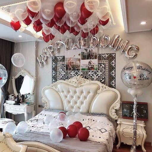 Bí quyết trang trí phòng cưới đẹp đơn giản cho đêm tân hôn lãng mạn