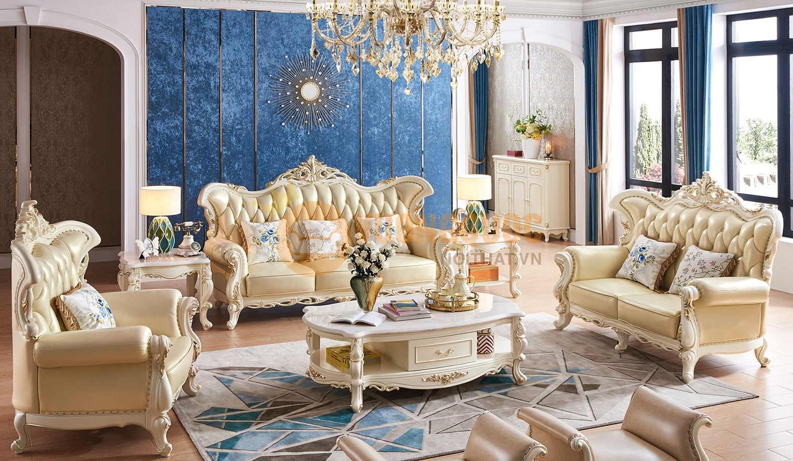 Bật mí những điều cần biết về bàn ghế sofa tân cổ điển giá rẻ